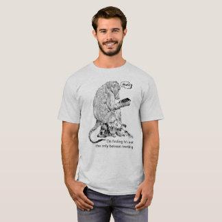 Baboon Peering at iPad | African Wildlife T-Shirt