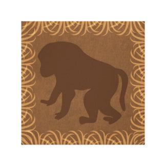 Baboon Silhouette | Facing Left | Safari Theme Canvas Print