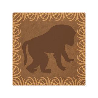 Baboon Silhouette | Safari Theme Canvas Print