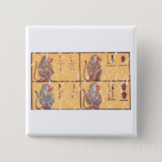 baboons 15 cm square badge