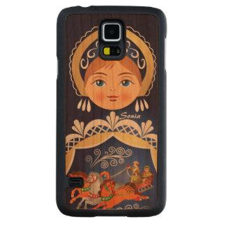 Babushka Matryoshka Russian Doll Carved Cherry Galaxy S5 Case