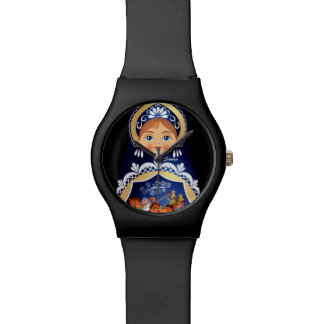 Babushka Matryoshka Russian Doll Watch $58.95