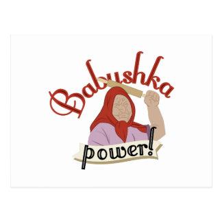 Babushka Power Postcard
