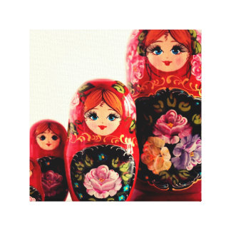Babushka Russian Doll Canvas Print