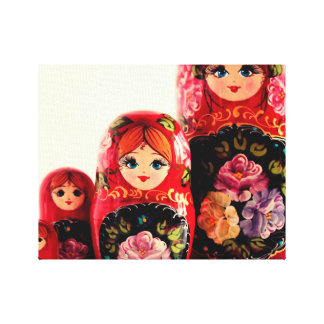 Babushka Russian Doll Gallery Wrap Canvas