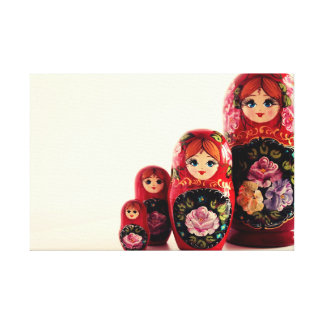 Babushka Russian Doll Gallery Wrapped Canvas