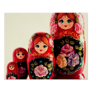 Babushka Russian Doll Poster