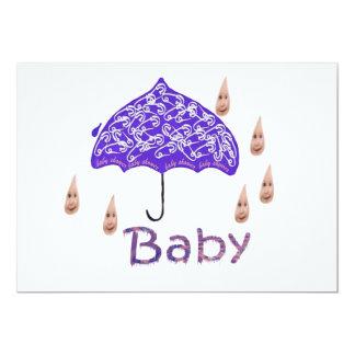 Baby 13 Cm X 18 Cm Invitation Card