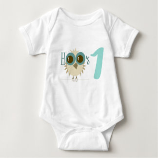 Baby 1st Birthday Party Gifts Teal Owl 12 months Shirts