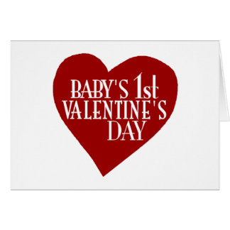 Baby 1st Valentine's Day Greeting Card