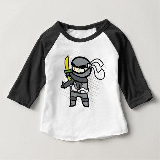 Baby 3/4 sleeve ninja tshirt
