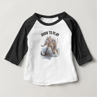 Baby 3/4 Sleeve Playful Elephant Raglan shirt