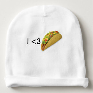 Baby <3s tacos baby beanie