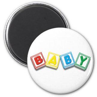 Baby 6 Cm Round Magnet