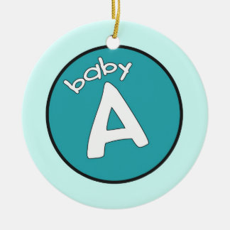 """""""Baby A"""" Personalized Ornament for Multiples"""