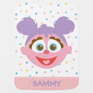 Baby Abby Cadabby Big Face | Add Your Name Baby Blanket