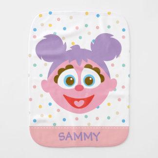 Baby Abby Cadabby Big Face | Add Your Name Burp Cloth