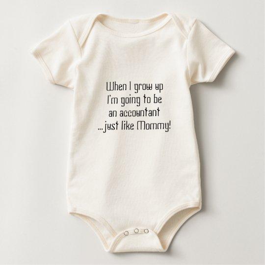 Baby Accountantjust like Mum/Dad Baby Bodysuit