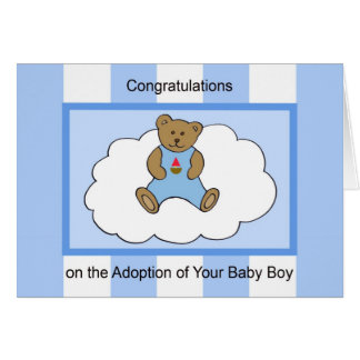 Baby Adoption Card -- Baby Boy