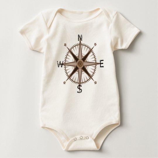 Baby Adventurer Compass Rose Baby Bodysuit