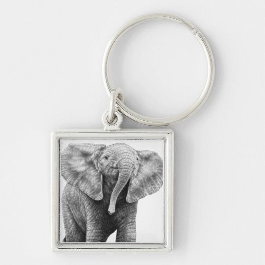 Baby African Elephant Keychain