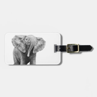 Baby African Elephant Luggage Tag