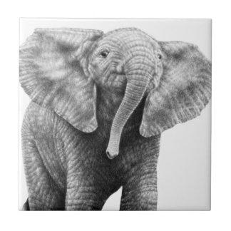 Baby African Elephant tile