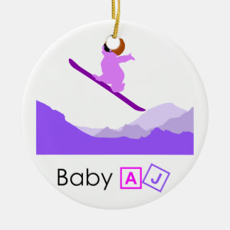 Baby AJ Boarder Christmas Tree Ornaments