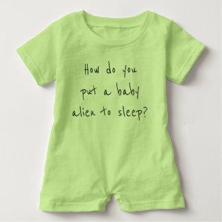 Baby Alien cute joke jumper Baby Bodysuit