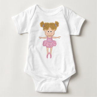 Baby all in one of a beautiful ballerina baby bodysuit