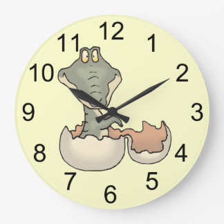 Baby Alligator Hatching Wall Clock