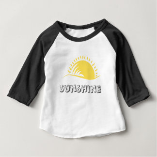 Baby American Apparel 3/4 Sleeve Raglan Sunshine T Baby T-Shirt