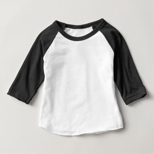 Baby American Apparel 3/4 Sleeve Raglan T-Shirt, Black