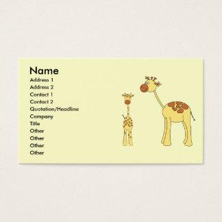 Baby and Adult Giraffe.
