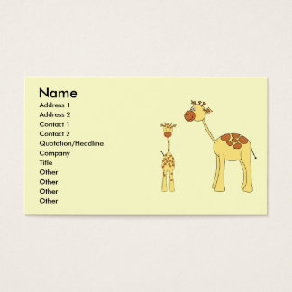 Baby and Adult Giraffe. Business Card