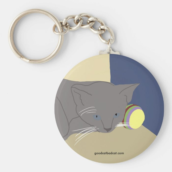 Baby and Ball Keychain