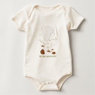 Baby and chocolate baby bodysuit