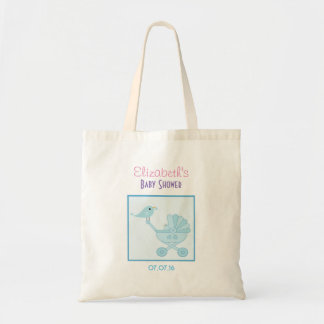 Baby and Mommy Bluebirds Baby Shower Favor Budget Tote Bag