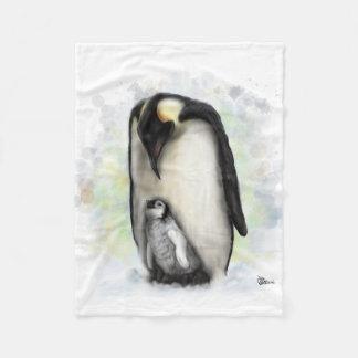 Baby and Parent Penguin Fleece Blanket