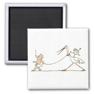 Baby and Stork Magnet
