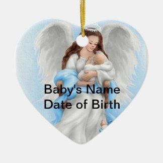 Baby Angel (Boy) Heart Ornament