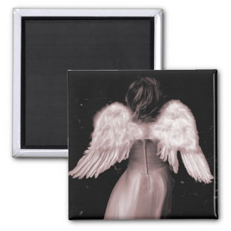 Baby Angel Breaking Free Square Magnet