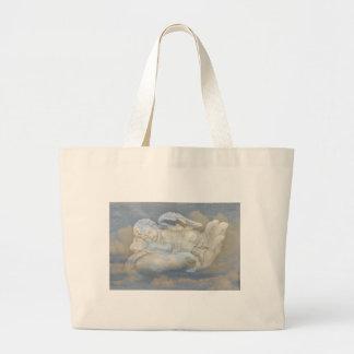 Baby Angel Wings Sleeping in God's Hand Tote Bag
