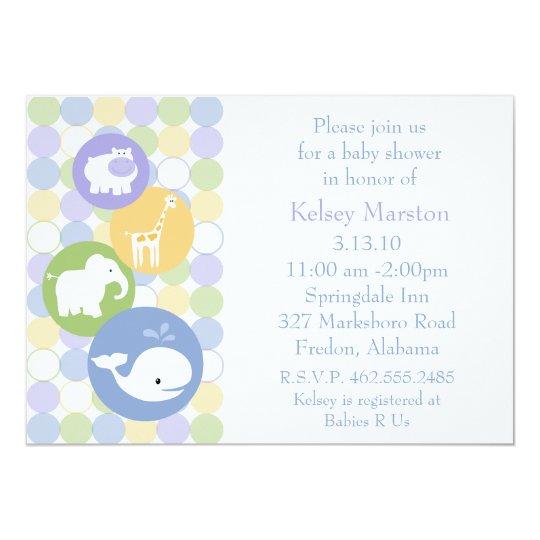 Baby Animals Baby Shower Invitation