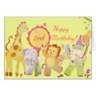Baby Animals: Birthday Card for Children
