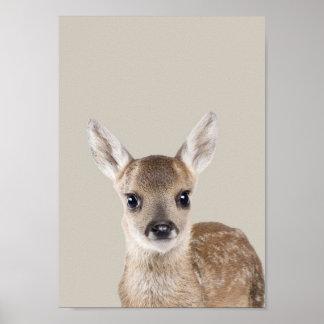Baby Animals Nursery Poster - Deer