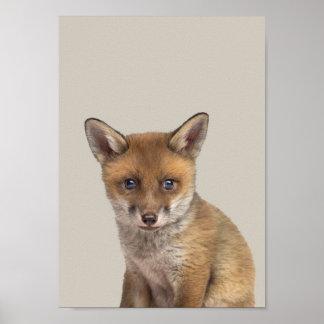 Baby Animals Nursery Poster - Fox