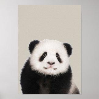 Baby Animals Nursery Poster - Panda