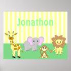 Baby Animals Nursery Poster/ Print - Child's Name