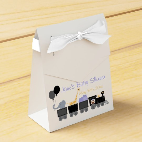 Baby Animals On A Train Baby Shower Gift